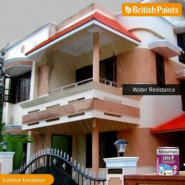 With unique water resistance properties, #Expa7 always protects your #exteriors from #dampness.  #BritishPaints Know more about Expa 7: http://bit.ly/1qGPqOE
