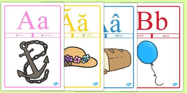 Alfabetar, Planse - alfabet, alfabetul, litere, literele