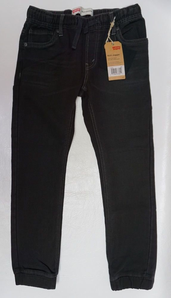 fa7a82b47 Levis boys sports activity Black Wash Pull On Knit jogger pants M 10-12 NEW  #Levis #jogger #Everyday