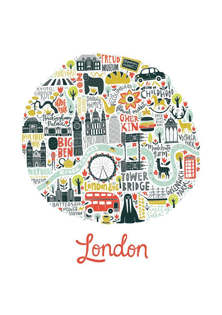 Consultez ce projet @Behance: \u201cMap of London\u201d https://www.behance.net/gallery/41056869/Map-of-London