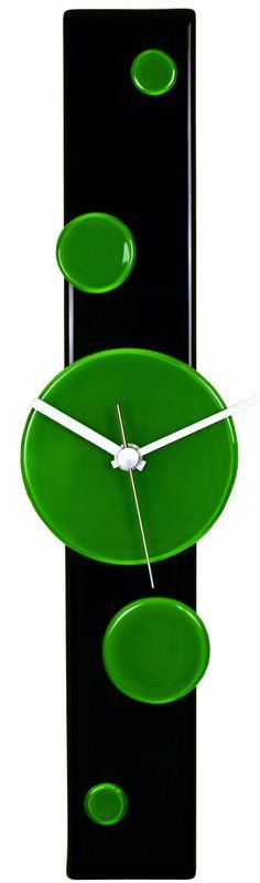 If you're looking fill an empty space and add some depth and curiosity to your home or office this clock will exceed your expectations. The smooth curved glass is hand-made by artisan glass designers. The glass is complimented by a hands that are powered by an accurate and reliable quartz movement. The River City Glass Clock Collection is the result of artist and glass designer, Bernadette Arki, and mechanical engineer, Zsolt Ocsag, being fascinated by the kaleidoscopic effects of natural...