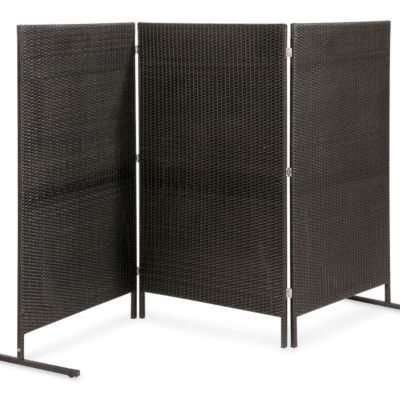 We're going to have to get a couple of these for the backyard, with our neighbors being so close. (Resin Wicker Privacy Screen)