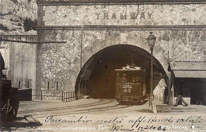 SAMPIERDARENA - Il Tunnel - FOTO STORICHE CARTOLINE ANTICHE E RICORDI DELLA LIGURIA