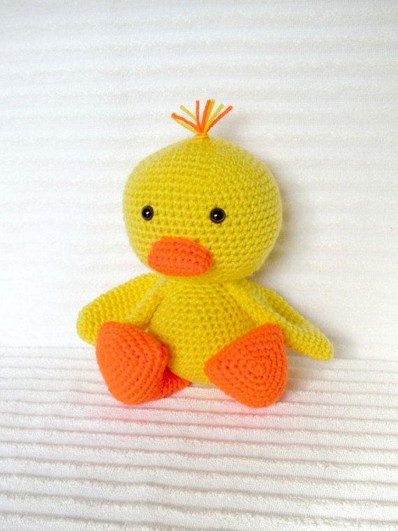 Crochet Duck Duck Stuffed Animal Crochet Duck by NikkisCraftShoppe