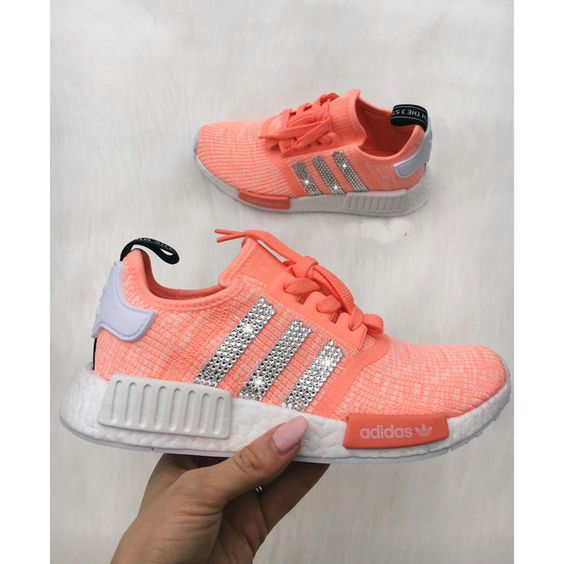"""quality design 19038 0c88f ... Over Half Off New Arrival 2017 June Swarovski Crystals Adidas NMD White  Tactile Green White Adidas adidas NMD R1 """" ..."""