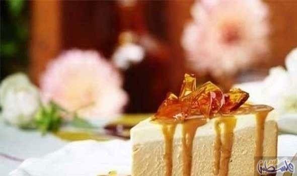 تشيز كيك بجبن الفيتا والكراميل والتوفي Food Cheesecake Desserts