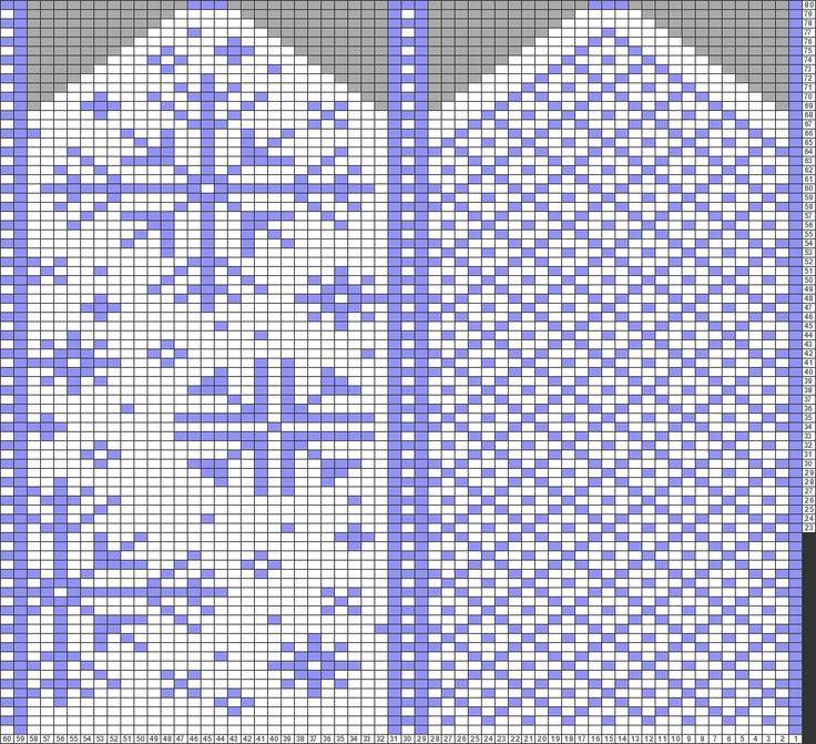 Tricksy Knitter Charts: Snowfall by emily.pergler.black