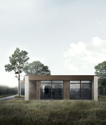 BAKS ARKITEKTER - Farum house, Denmark. Nordic architecture, house, design, scandinavian, texture, brick, wood, minimalistic, danish, nature, living