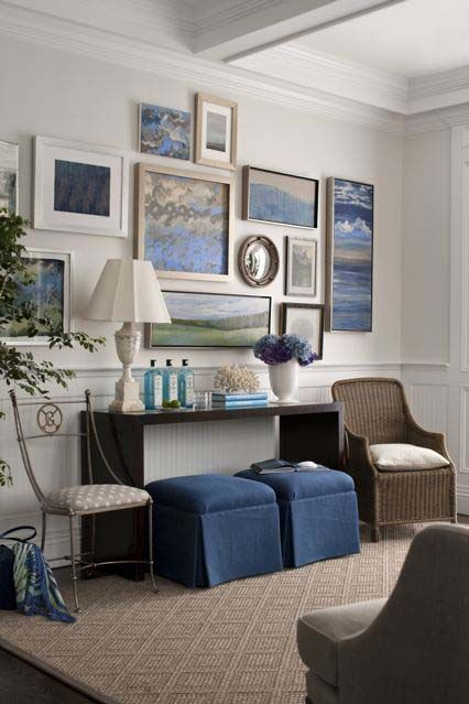 Hampton Designer Showhouse: Living Rooms, Decoration, Beaches House Entryway, Galleries Wall, Interiors Design, Kate Singers, Apartment Idea, Design Showhous, Art Wall