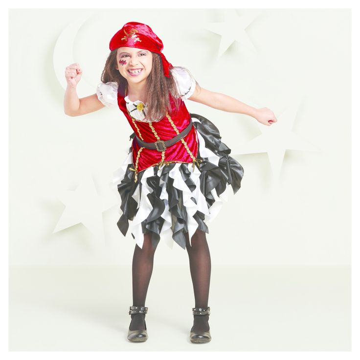 Halloween Toddler Girls' Pirate Princess Costumes 18-24 Months - Hyde and Eek! Boutique, Multicolored