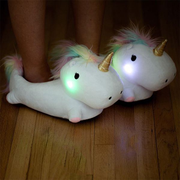 Unicorn Light Up Slippers (Perfect footwear for your slumber party!)
