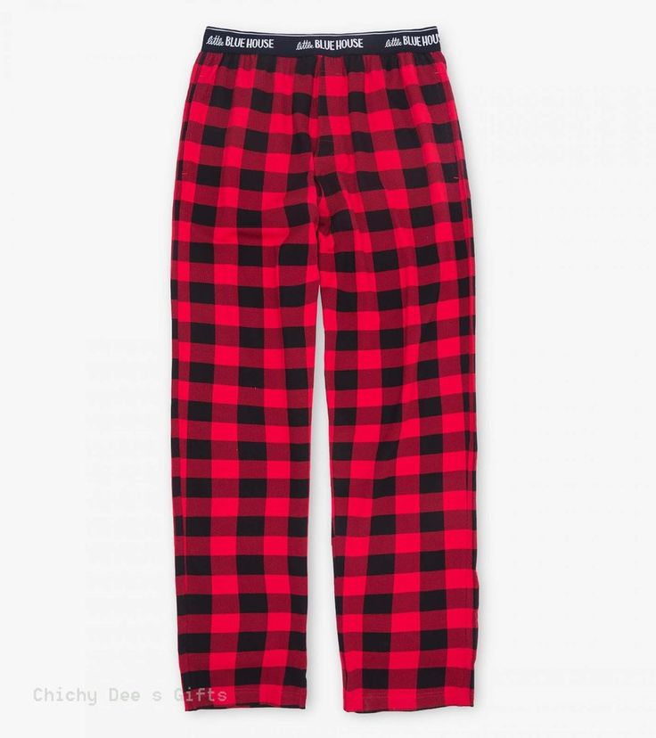Hatley Men s Jersey Pajama Pants BUFFALO PLAID PJ sleep Novelty Father's Day