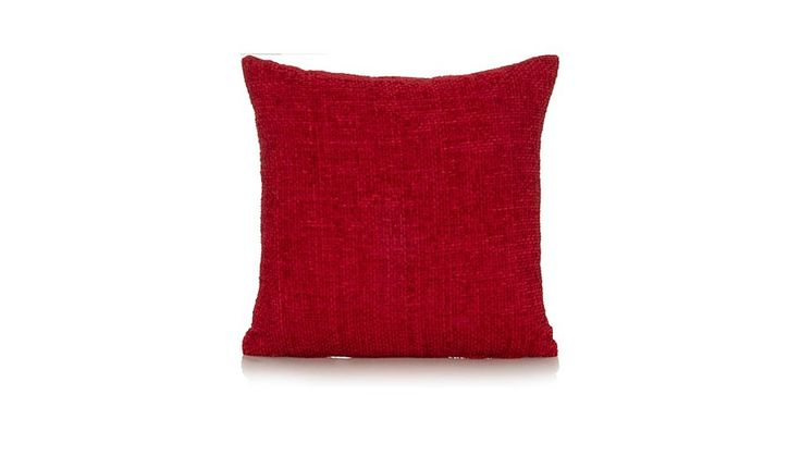 George Home Chenille Cushion 40x40cm - Red, read reviews and buy online at George at ASDA. Shop from our latest range in Home & Garden. If you're a fan of ou...