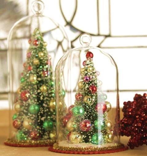 Christmas tree in bell jar