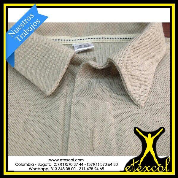 Camiseta Tipo Polo,  para dotaciones empresariales e industriales.  Tela lacoste algodon 100%.  solo en Www.etexcol.com