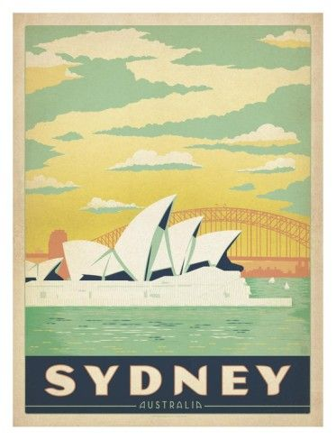 Sydney Australia Art by Anderson Design Group at AllPosters.com