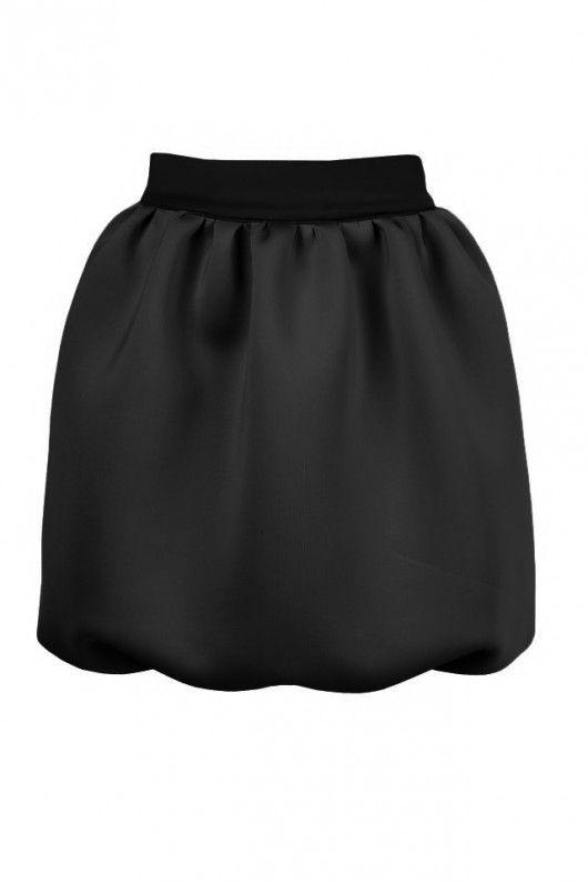 spódnice-Czarna spódnica bombka neopren