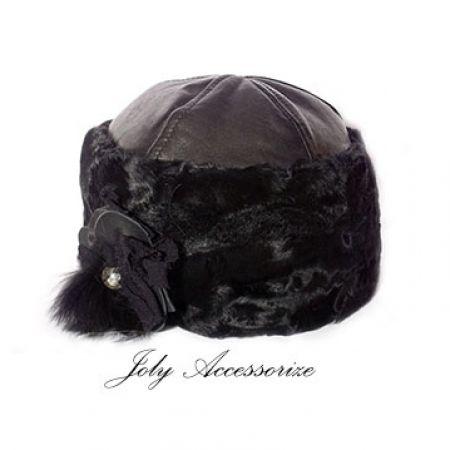 """Colbacco pelle e pelliccia """"Dealla"""" - Joly Accessorize"""