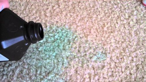 #6 stains in your carpet? That's easy! Just simply mix two parts water with one part vinegar. Place the mixture in a spray bottle then spray the mixture into the stain. Place a damp rag on top of the stain then iron it.