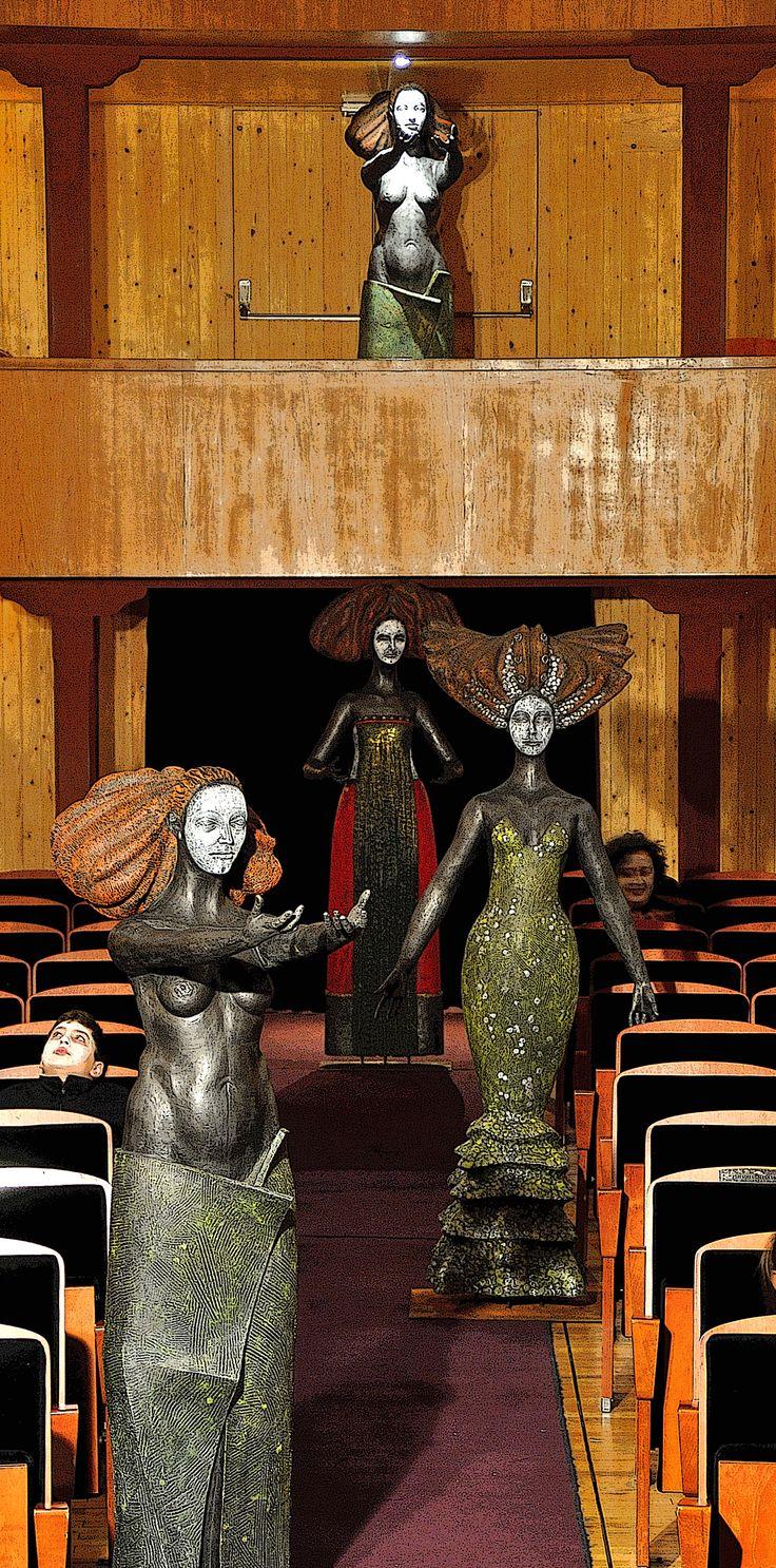 Las musas de Antonio Mota, en el Teatro de las Cortes.