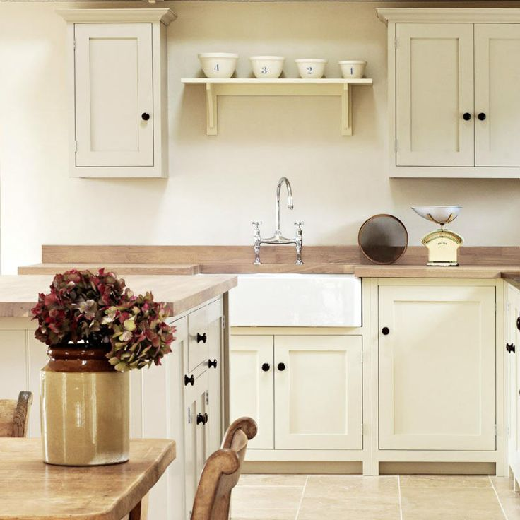 There Are White Cabinets In The Kitchen In English
