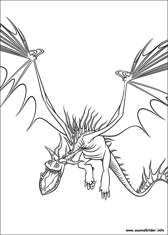 Drachenzähmen leicht gemacht malvorlagen Dragon coloring