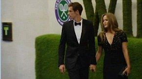 Andy Murray went with girlfriend Kim and mum Judy to celebrate his historic Wimbledon victory at Champion's Ball