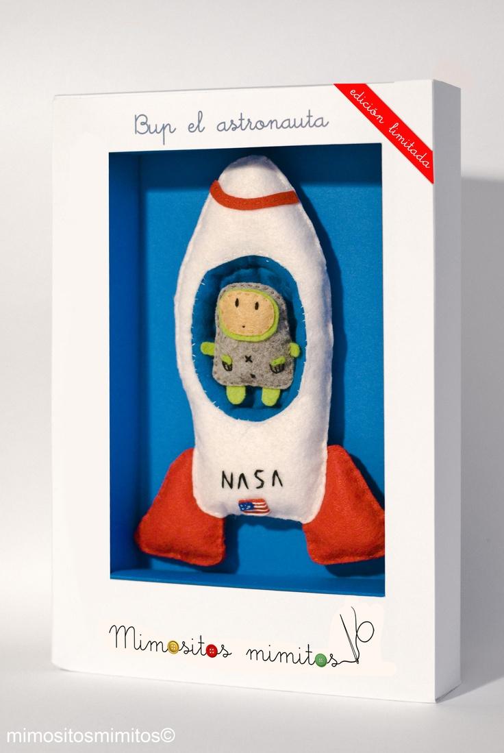 muñeco pack Bup El Astronauta cohete espacio mundo luna fieltro juego niños oficios azul verde rojo blanco: Craft, Felt Rocket, Kids, Products, Bup El Astronauta