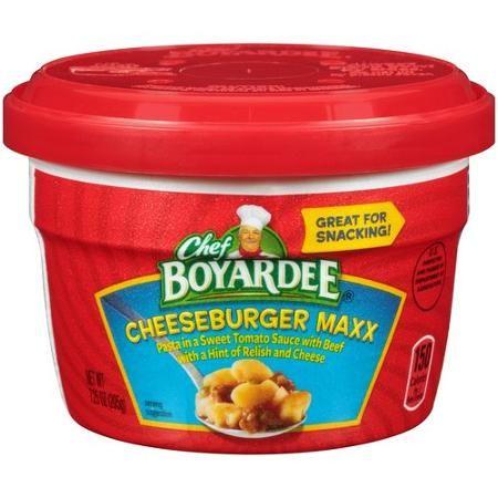 chef boyardee   Chef Boyardee Cheeseburger Maxx Pasta Microwave Cup, 7.25 oz