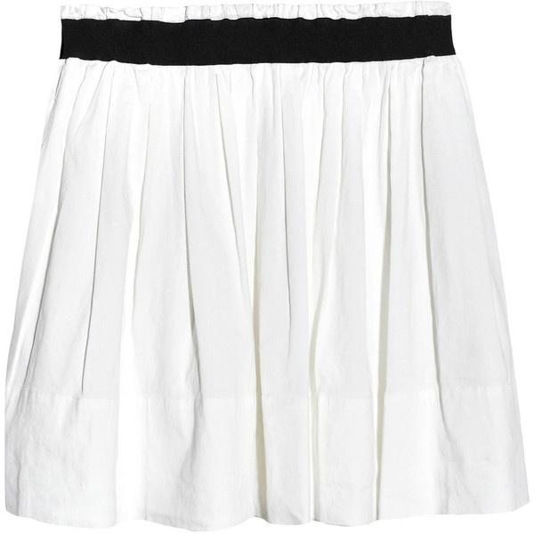 Theory Pilado linen-blend mini skirt found on Polyvore
