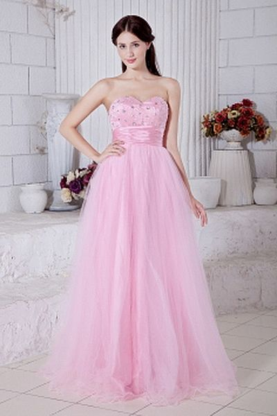 Tulle Classic Sweetheart Homecoming Gown wr1384 - http://www.weddingrobe.co.uk/tulle-classic-sweetheart-homecoming-gown-wr1384.html - NECKLINE: Sweetheart. FABRIC: Tulle. SLEEVE: Sleeveless. COLOR: Pink. SILHOUETTE: A-Line. - 151.59