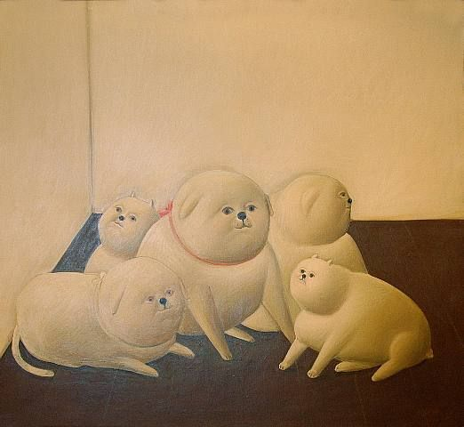 Fernando Botero.   Today's art fix. Dedicated all to my favorite art teacher, Mrs. Wansack!