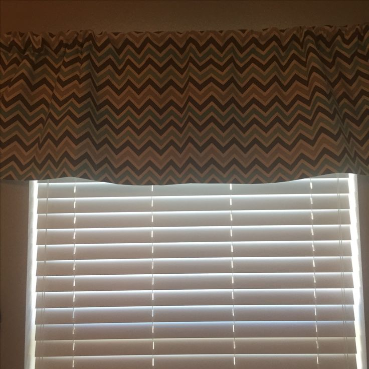 Curtain is from Etsy. It is gray, white and turquoise in a chevron pattern.