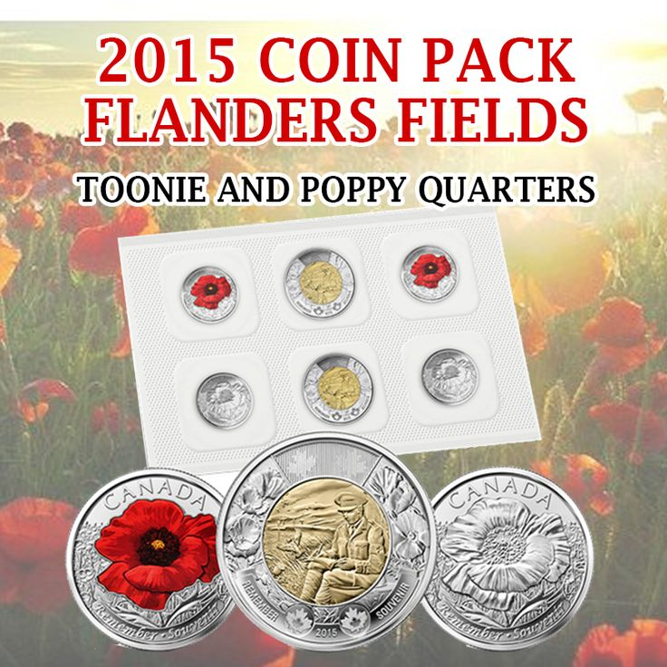 The new Flanders Field Coin Pack is available! Pick up these beautiful commemorative coins.