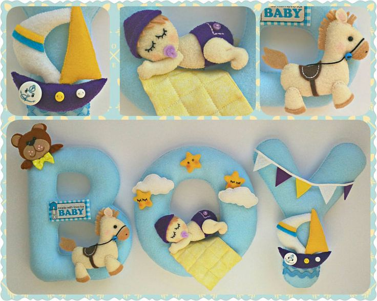 Baby Theme Name Boy Birthday Banner Personalized by VikaCreations