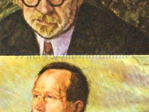 Retratos de Pío Baroja y Azorín. Con el nombre de «generación del 98», dos de sus miembros, Azorín y Gabriel Maura, bautizaron en 1913 a un grupo de escritores españoles que iniciaron su obra en los últimos cinco años del siglo XIX.