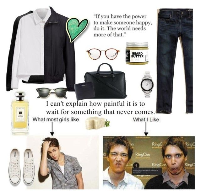 """""""My favourite celebrities"""" by lianafourmouzi ❤ liked on Polyvore featuring Spyder, Y's by Yohji Yamamoto, Joseph, Converse, Dolce&Gabbana, Hollister Co., Yves Saint Laurent, Ray-Ban, Jo Malone and Detroit Grooming Co."""
