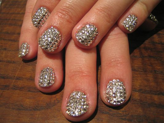 crushed diamond nail polish