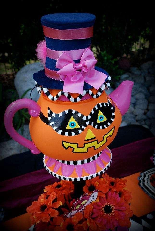Mad Hatter Halloween Halloween Party Ideas Pumpkin