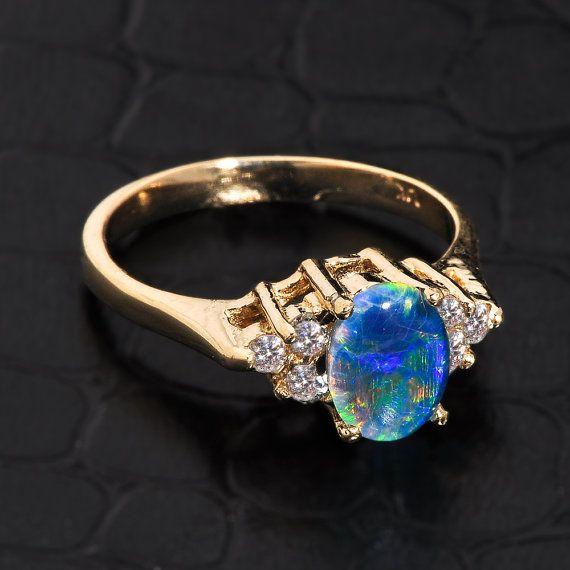 Best 25 Blue opal ring ideas on Pinterest