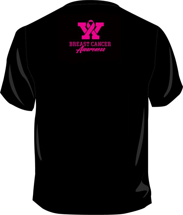 Fantasy Football T-Shirt Breast Cancer Awareness | Fantasy Football Shirts (Back View). Percentage donated to Bright Pink with every t-shirt sale.
