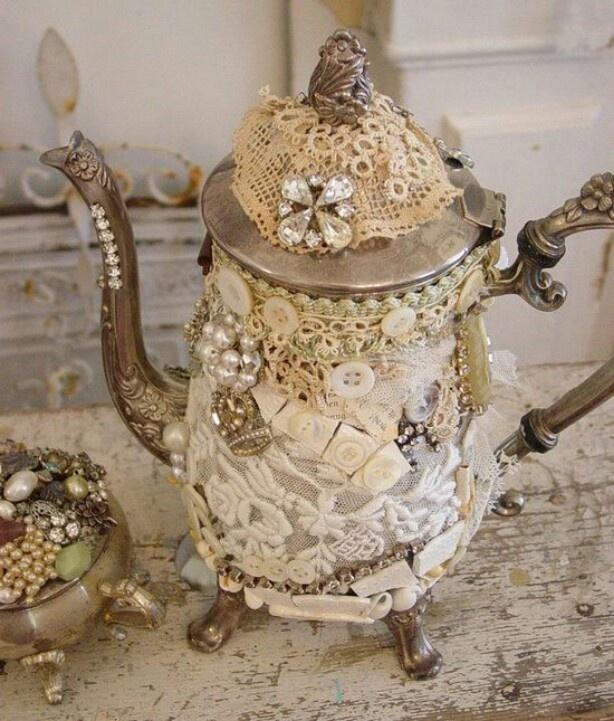 Cute ideas for teapot fairy house
