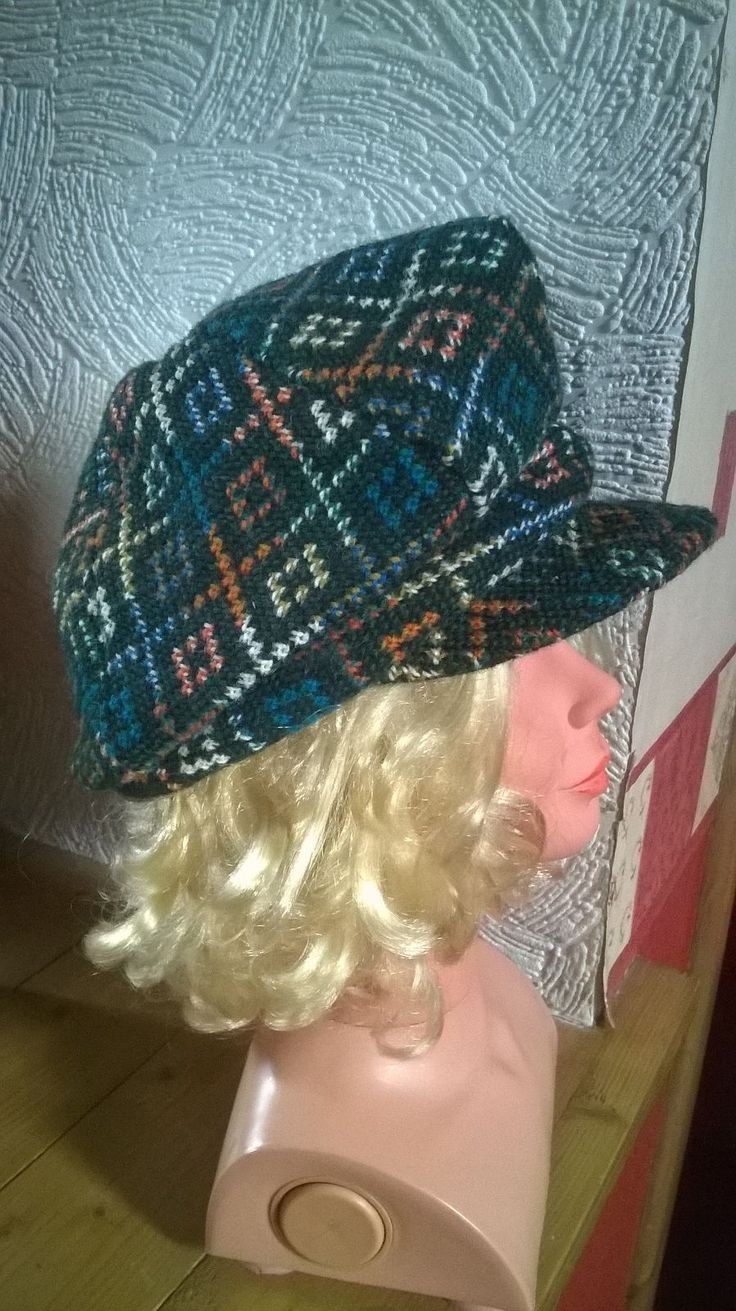 Vintage Green Welsh Wool Tapestry Small Womens Hat | eBay