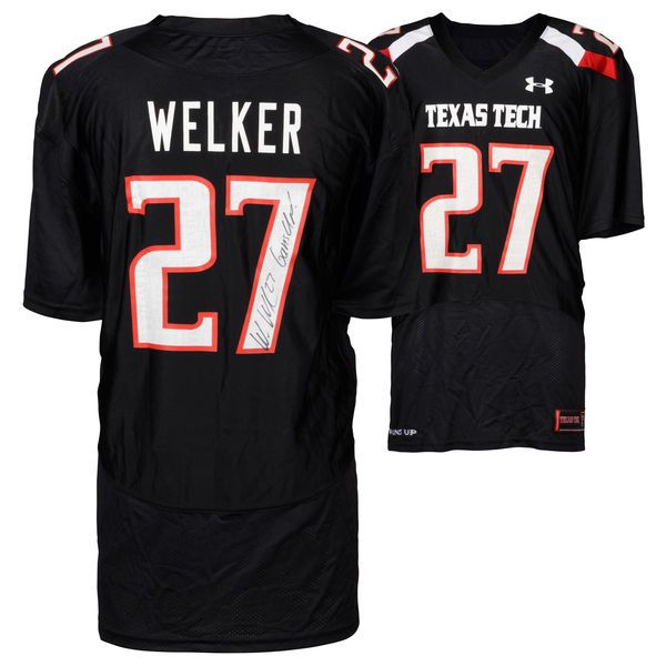 Wes Welker Texas Tech Red Raiders Fanatics Authentic Autographed Black Jersey with Guns Up! Inscription - $419.99