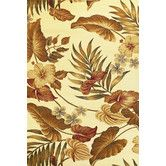 Found it at Wayfair - Lifestyles Ivory Tropical Rug