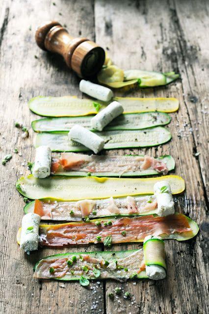 Squash w/ Cheese, Prosciutto & Herbs