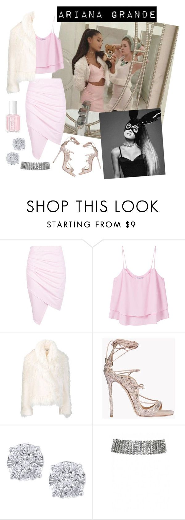 """""""Ariana Grande    Outfit    Selfie Instagram"""" by lehzlye ❤ liked on Polyvore featuring Boohoo, MANGO, STELLA McCARTNEY, Dsquared2, Effy Jewelry and Essie"""