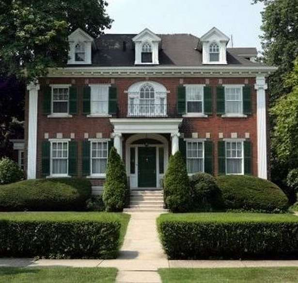 Awesome Classic Home Exterior Ideas 13 Colonial House Exteriors House Exterior Red Brick House