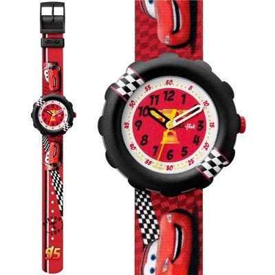 Flik flak kids watch boys disney cars lightning mcqueen 95 fls019 preschool kid 39 s watches for Mcqueen watches