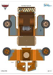 disney cars homemade decorations | Wallpaper Cars 2 Tow Mater Papercraft HD Pictures